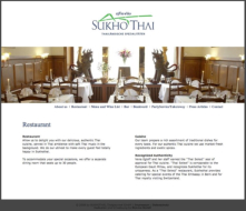 The Sukhothai website conveys the competence and hospitality of this authentic Asian establishment.