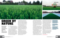 "Article on artificial turf for the technical journal ""Stadia."""